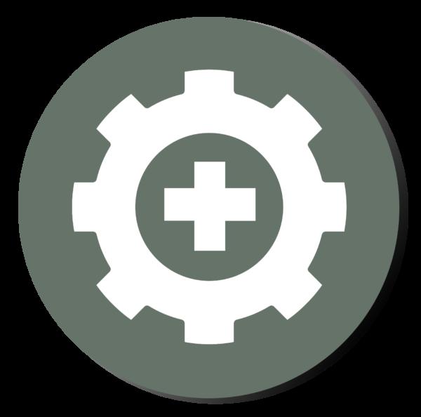 white gear logo